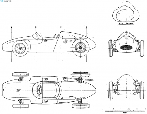 1958 Cooper Climax OW blueprint