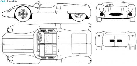 1964 Cooper Monaco Type 63 Cabriolet blueprint