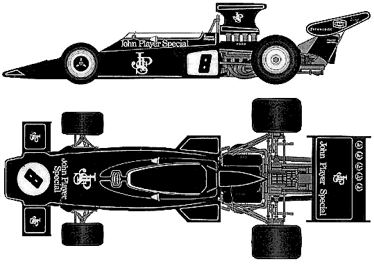 1970 Lotus 72D F1 OW blueprint