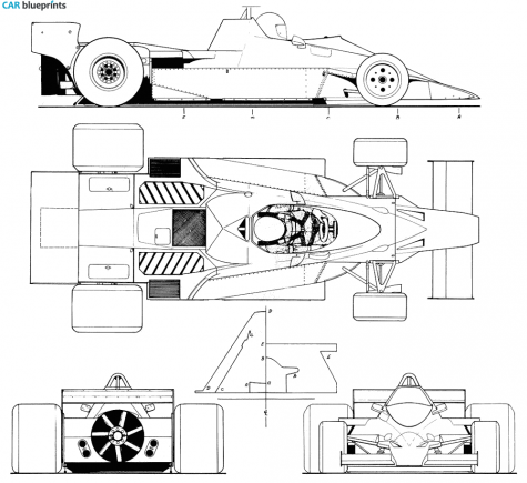 1978 Brabham BT46 B F1 OW blueprint