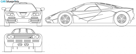 1989 McLaren F1 Coupe blueprint